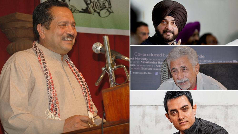 RSS नेता इंद्रेश कुमार का विवादित बयान, नवजोत सिंह सिद्धू, नसीरुद्दीन शाह और आमिर खान को बताया 'गद्दार'