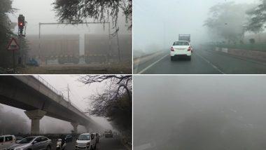 राजधानी दिल्ली में कोहरे का बढ़ा प्रकोप, ट्रेनों और उड़ानों पर असर