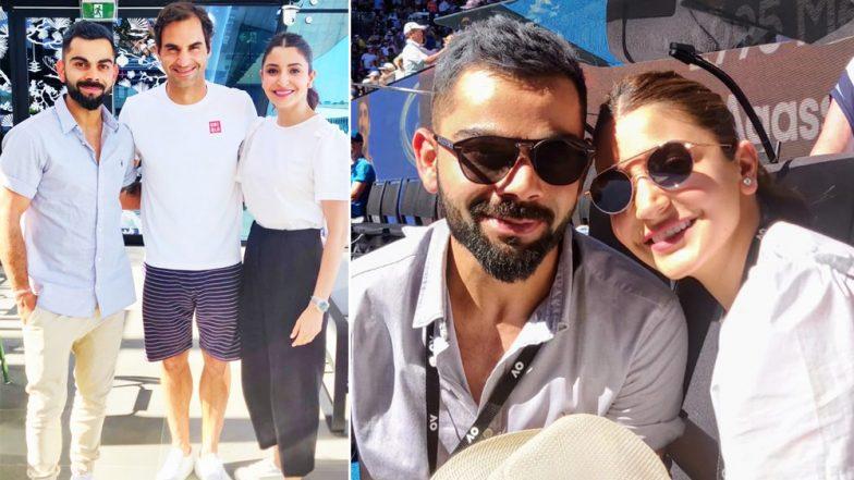 विराट कोहली और अनुष्का शर्मा ने टेनिस स्टार रोजर फेडरर से की मुलाकात, देखें तस्वीरें