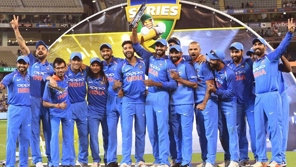 वेस्टइंडीज दौर तक भारतीय टीम की जर्सी पर ओप्पो की जगह लेगा बाईजूस का लोगो