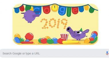 Happy New Year 2019: Google ऐसे मना रहा है नए साल का जश्न, खास Doodle बनाकर किया 2018 को विदा