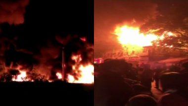 मुंबई और पुणे  स्थित इमारत में आग लगने की घटना, विशाखापट्टनम के निर्माणाधीन वाटर पाइपलाइन में भी लगी आग