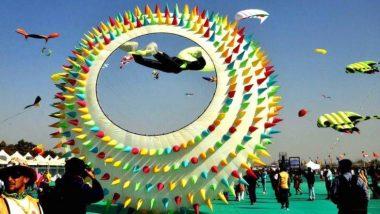 International Kite Festival 2019: अंतरराष्ट्रीय पतंग महोत्सव में दुनिया के 45 देश शामिल, तस्वीरों में देखिए कैसे रंग-बिरंगी पतंगों से गुलजार हुआ आसमान