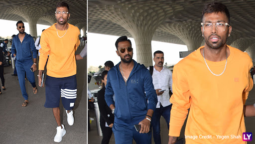 'कॉफी विद करण' विवाद के बाद पहली बार दिखे हार्दिक पांड्या, मुंबई एअरपोर्ट पर भाई क्रुणाल पांड्या के साथ किया गया स्पॉट