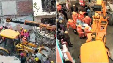 गुरुग्राम में गिरी चार मंजिला इमारत, अब तक 6 लोगों की मौत, राहत-बचाव कार्य जारी