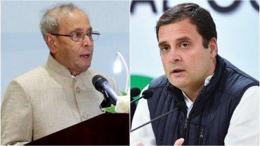 प्रणब मुखर्जी को भारत रत्न के ऐलान के बाद राहुल गांधी ने कहा- कांग्रेस को गर्व है कि उनके योगदान को सम्मान मिला