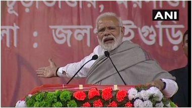पीएम नरेंद्र मोदी जलपाईगुड़ी में कांग्रेस और ममता सरकार पर जमकर बरसे, कहा- तीन तलाक कानून को नहीं हटाने दिया जाएगा