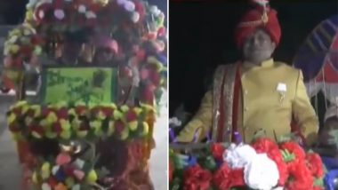 बिहार: अनोखी शादी बनी चर्चा का केंद्र, पर्यावरण संरक्षण का संदेश देने ई-रिक्शा से निकला दूल्हा, मेहमानों को रिटर्न गिफ्ट में दिए पौधे