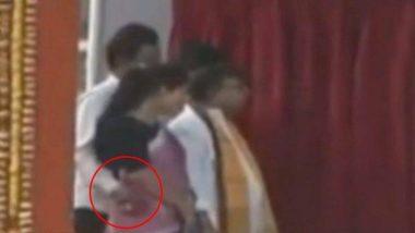 त्रिपुरा के मंत्री मनोज कांति देव फसें विवादों में, PM मोदी के मंच पर की शर्मनाक हरकत, देखें वीडियो