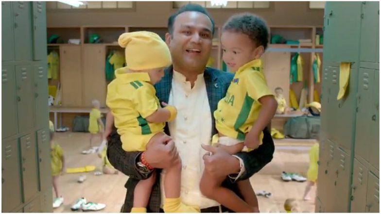 वीरेंद्र सहवाग बने 'बेबीसिटर', कुछ इस तरह की ऑस्ट्रेलियाई टीम की खिंचाई, देखें मजेदार VIDEO