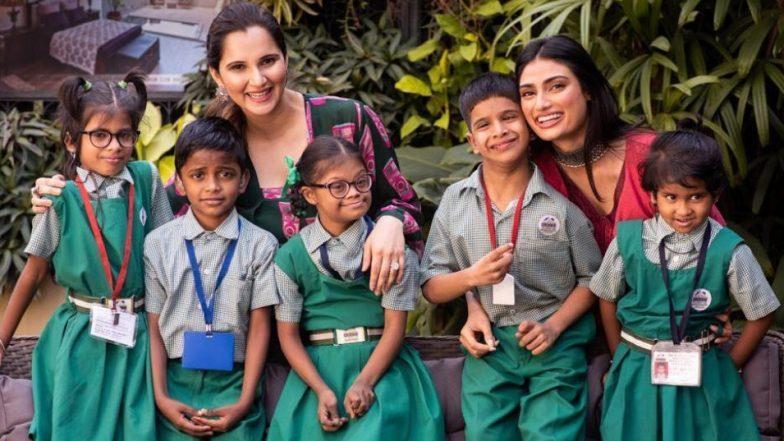 सानिया मिर्जा और अथिया शेट्टी ने 'सेव द चिल्ड्रन' मुहिम के लिए मिलाया हाथ