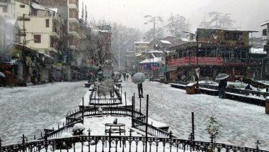हिमाचल प्रदेश: शिमला-मनाली में हुई हल्की बर्फबारी और बारिश, मौसम हुआ सुहाना