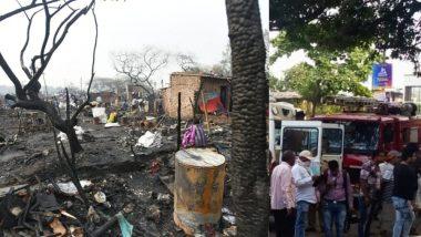 दिल्ली के पश्चिमपुरी में आग लगने से 250 झुग्गियां खाक, 1 महिला हुई घायल
