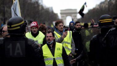 फ्रांस: 'येलो वेस्ट' प्रदर्शकारियों की संख्या में आई कमी