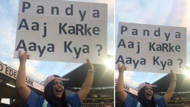 हार्दिक पांड्या फिर हुए ट्रोल, मैच देखने पहुंची महिला ने पूछा- आज करके आया क्या?