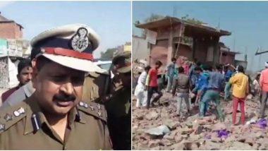 यूपी: भदोही जिले में पटाखा करोबारी के मकान में विस्फोट, 10 की मौत, कई गंभीर रूप से घायल