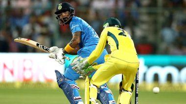 India vs Australia 2nd T20 2019: दूसरे T20 मैच में हाफ सेंचुरी से चूके लोकेश राहुल, भारत ने बनाए 9 ओवर में 70 रन