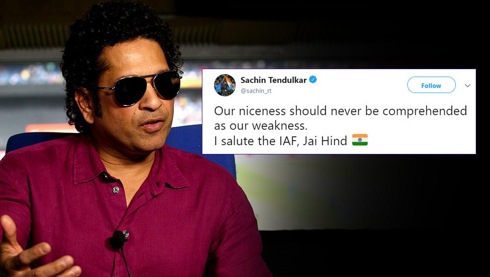 Surgical Strike 2 के बाद 'क्रिकेट के भगवान' सचिन तेंदुलकर ने कहा- 'हमारी अच्छाई को हमारी कमजोरी मत समझना'