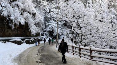 हिमाचल प्रदेश: कल्पा और मनाली के पास की पहाड़ियां सफेद चादर से ढकीं, पर्यटकों को ऊंची पहाड़ियों पर न जाने की दी गई सलाह