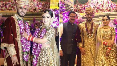 आईपीएल स्टार नितीश राणा ने अपनी गर्लफ्रेंड साची मारवाह संग रचाई शादी, ये भारतीय खिलाड़ी बने बाराती