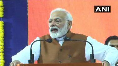 प्रधानमंत्री ने साधा कांग्रेस पर निशाना, बोले- भ्रष्ट लोगों को है मोदी से कष्ट, एक-एक कर आ रही है दलाली खाने वालों की बारी