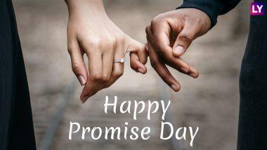 Happy Promise Day 2019 Wishes: प्रॉमिस डे पर प्यार में साथ निभाने का वादा जरूर करें, इन मैसेजेस को WhatsApp Stickers, SMS, Facebook Greetings के जरिए भेजें और पार्टनर को स्पेशल होने का एहसास दिलाएं