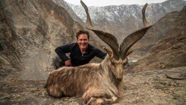 अमेरिकी  शिकारी ने जानवर के लिए खर्च किए 77 लाख रुपये, फिर किया पाकिस्तानी पशु 'मारखोर' का शिकार