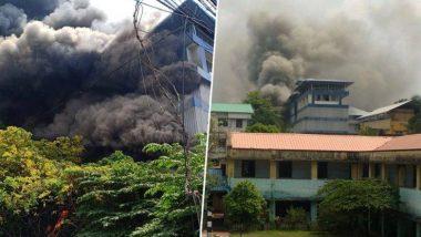 केरल: एर्नाकुलम के गोदाम में लगी भीषड़ आग, बचाव कार्य जारी