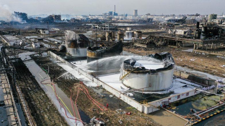 चीन : रसायनिक संयंत्र विस्फोट में मरने वालों की संख्या बढ़कर हुई 64, 28 अभी भी लापता