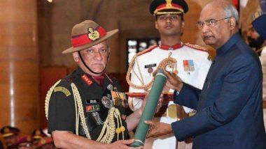 Gallantry Awards 2019: राष्ट्रपति रामनाथ कोविंद ने वीरों को किया सम्मानित, सेना प्रमुख जनरल बिपिन रावत को मिला परम विशिष्ट सेवा मेडल पुरस्कार