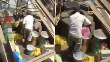 मुंबई के कुर्ला रेलवे स्टेशन की कैंटीन में गंदे तरीके से बन रहा था नींबू पानी, VIDEO हुआ वायरल