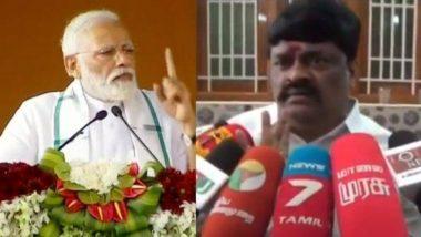 AIADMK मंत्री बालाजी ने प्रधानमंत्री को बताया पिता, कहा- मोदी हमारे ही नहीं बल्कि पूरे भारत के डैडी