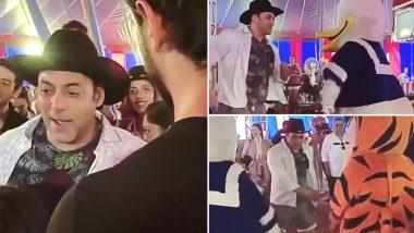 सलमान खान ने अपने भांजे आहिल के जन्मदिन पर डोनाल्ड डक के साथ किया डांस, वीडियो हुआ वायरल