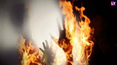 उत्तर प्रदेश: कुत्तों के डर एक घर में घुसे शख्स को चोर समझकर जिंदा जलाया, मामले में दो गिरफ्तार