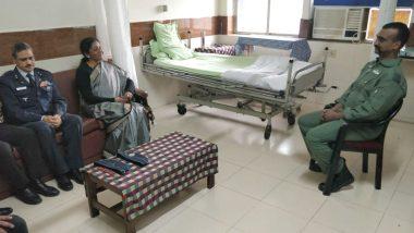 रक्षामंत्री निर्मला सीतारमण ने की विंग कमांडर अभिनंदन से मुलाकात, पाक में हुई पूरी घटना के बारे में ली जानकारी