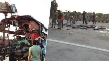 यमुना एक्सप्रेसवे पर दर्दनाक सड़क हादसा, बस-ट्रक की भिड़ंत में 8 लोगों की मौत, 30 घायल