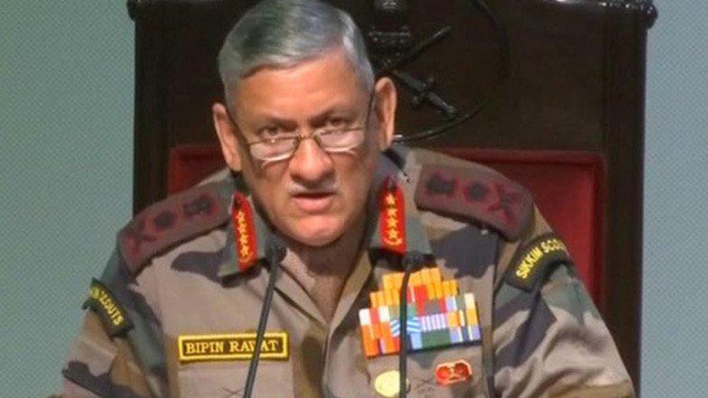 जनरल बिपिन रावत का बड़ा बयान, कहा- LOC पर सेना है मुस्तैद, PAK के हर कार्रवाई का देंगे मुंहतोड़ जवाब