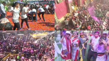Happy Holi 2019: अबीर-गुलाल, टमाटर और फूलों से देशभर में जमकर खेली जा रही है होली, तस्वीरों और वीडियो में देखें इस त्योहार के अनोखे रंग