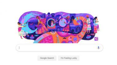 Google Doodle Holi 2019: गूगल ने खूबसूरत डूडल के जरिए दिया हैप्पी होली का संदेश
