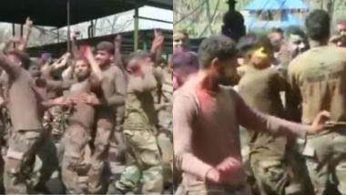 Holi 2019: जम्मू-कश्मीर के पुंछ में सेना के जवानों ने मनाया होली का त्योहार, मस्ती में झूमते आए नजर, देखें Video