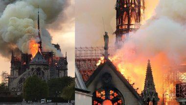 पेरिस: ऐतिहासिक गिरजाघर नोट्रे-डेम में लगी भीषण आग, 850 साल पुरानी छत जलकर हुई खाक