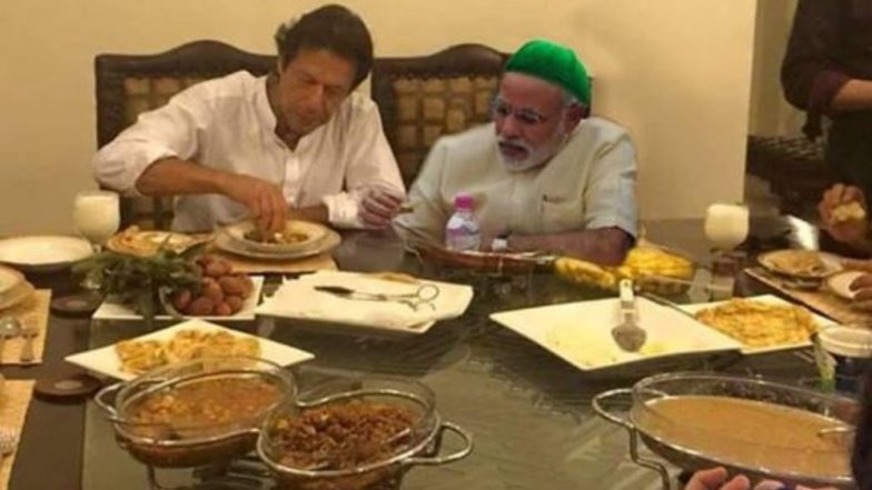 पीएम मोदी ने इमरान खान के साथ खाया खाना ? जानें इस वायरल तस्वीर की पूरी सच्चाई