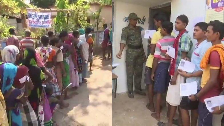 लोकसभा चुनाव 2019: बस्तर में जनता ने नक्सलियों को दिखाया ठेंगा, मतदान केंद्रों पर लगी लंबी लाइन, 11 बजे तक पड़े 21.1 फीसदी वोट