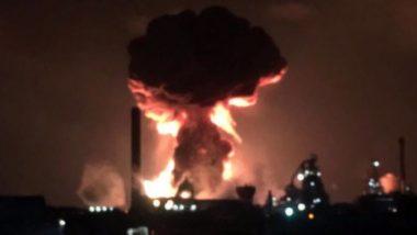 साउथ वेल्स: पोर्ट टैलबोट में टाटा स्टीलवर्क्स के प्लांट में ब्लास्ट के बाद लगी आग, दो घायल