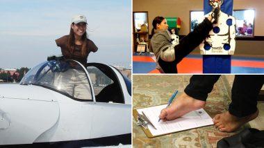दुनिया की पहली आर्मलेस पायलट और ब्लैक बेल्टर हैं जेसिका कॉक्स, पैरों से उड़ाती हैं प्लेन, देखें वीडियो