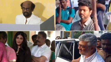 लोकसभा चुनाव 2019: रजनीकांत, कमल हासन और अजित कुमार समेत मतदान करने पहुंचे साउथ के ये बड़े सितारे