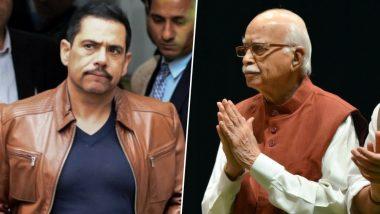 आडवाणी के बहाने रॉबर्ट वाड्रा का BJP पर निशाना, कहा- वरिष्ठों का सम्मान न करना शर्मनाक