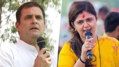 लोकसभा चुनाव 2019: राहुल गांधी को लेकर पंकजा मुंडे का विवादित बयान, कहा-सबूत मांगते हैं राहुल, इनके गले में बम बांधकर पाक भेज दो