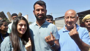 Lok Sabha Elections Phase 3: क्रिकेटर चेतेश्वर पुजारा ने राजकोट में डाला वोट, अन्ना हजारे ने अहमदनगर में किया मतदान