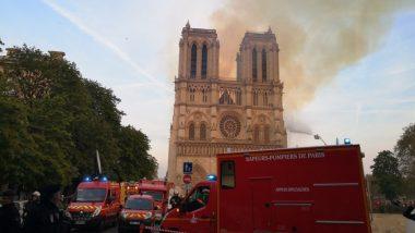 पेरिस: नोट्रे डेम चर्च में लगी आग नियंत्रण में, मुख्य संरचना और दो टावर सुरक्षित